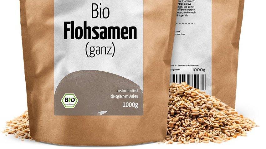 Bild zeigt 1 Kilgramm Packung Bio Flohsamen